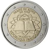 2 Euro Römische Verträge Frankreich 2007 Euromunzen Eorocoins Euro