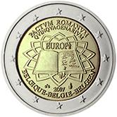 2 Euro 2007 Römische Verträge Belgien Euromunzen Eorocoins Euro