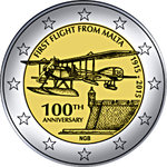 2 Euro Malta 2015 first flight from Malta