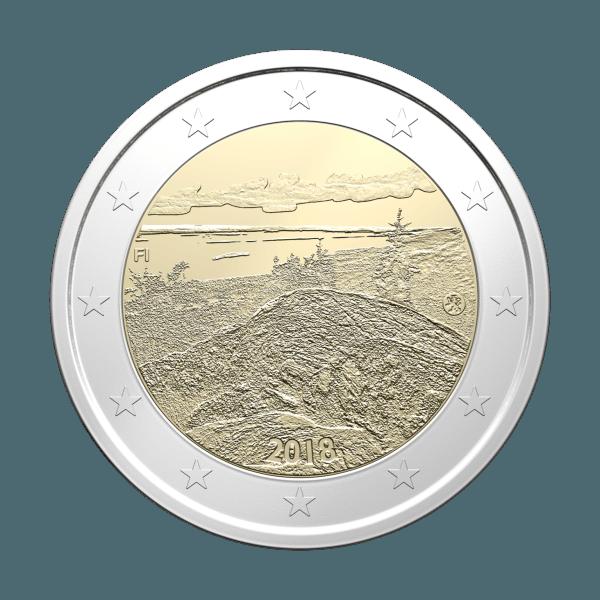 2 euro Suomi 2018 Suomalaiset kansallismaisemat Koli -Proof - Eurokolikot - Eurocoins- Euromunzen