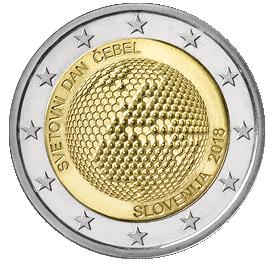 2 Euro Slovenia 2018weltbienentag Euromunzen Eorocoins Euro