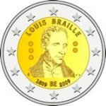 2 Euro  Belgia 2009 LOUIS BRAILLE