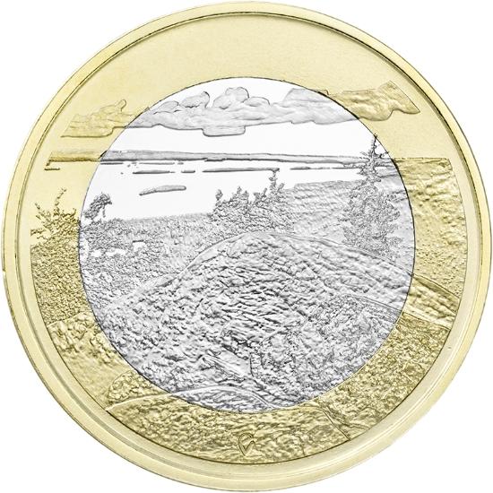 5 Euro Suomalaiset kansallismaisemat Koli, UNC