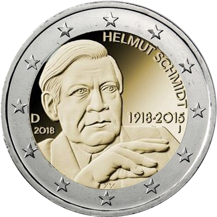2 Euro Helmut Schmidt Wert