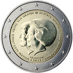 2 Euro Hollanti  2013 Double  Portret