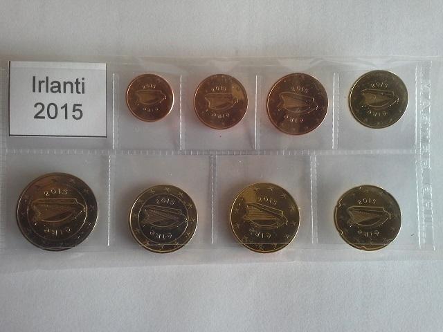 Irlanti 2015 kaiki 8 kolikkoa 1c-2e - Eurokolikot - Eurocoins- Euromunzen
