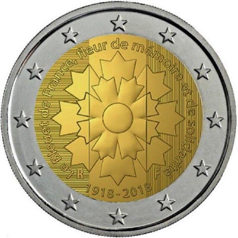 2 Euro 2018 Frankreich Kornblume Euromunzen Eorocoins Euro