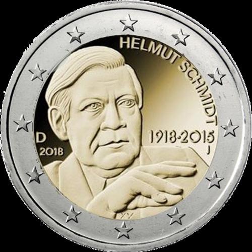 2 Euro Deutschland 2018 Helmut Schmidt