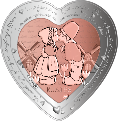"1 DOLLAR   ""NIUE"" 2020  CELEBRATING LOVE-KISS"