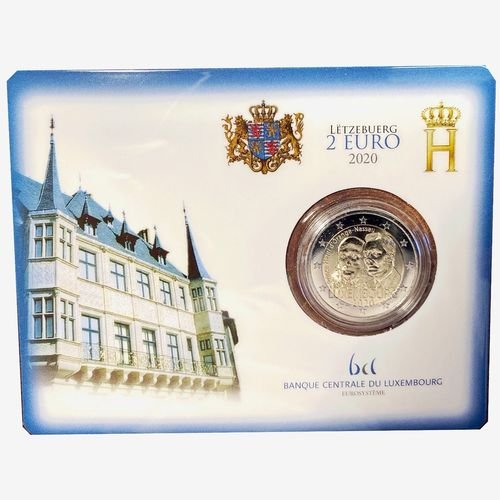 "2 EURO LUXEMBOURG 2020 ""PRINCE HENRY MINT MARK"" COINCART"