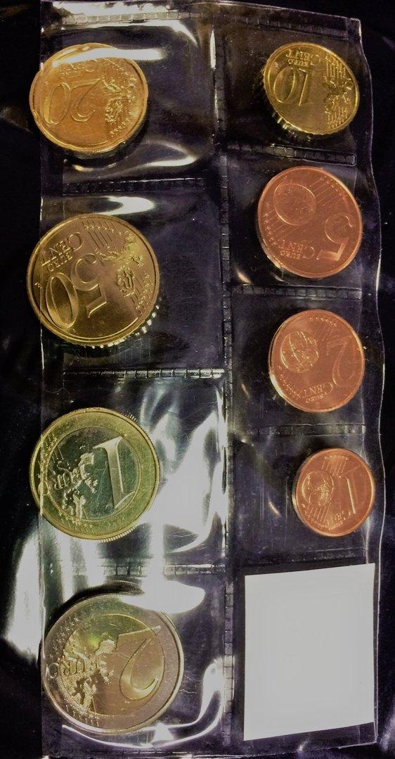 Luxemburg 2018 1c-2e kaikki 8 kolikkoa - Eurokolikot - Eurocoins- Euromunzen